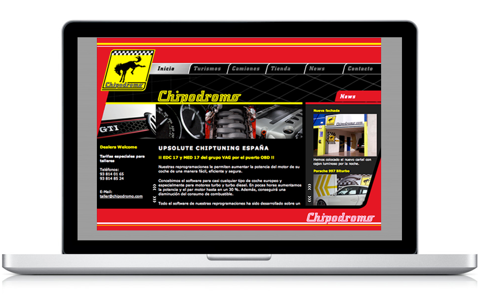Website design for Chipodromo