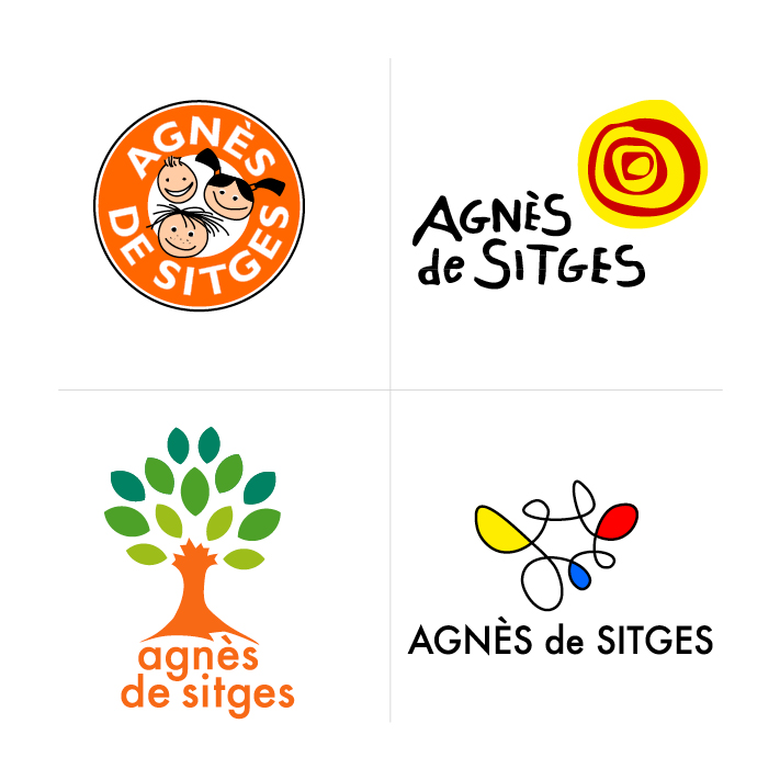 Proposals for the logo design of CEIP Agnès de Sitges