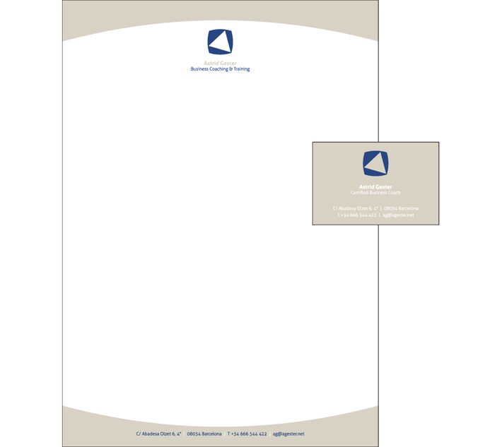 Letterhead and business card